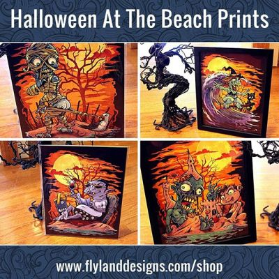 I have a few of these halloween signed art prints left over from last year - thanks to everyone for the positive feedback on these.Check them out at https://www.flylanddesigns.com/shop/ New Artwork From Instagram