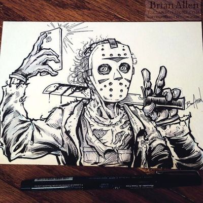 happy Friday! #jason #friday13th #selfie New Artwork From Instagram