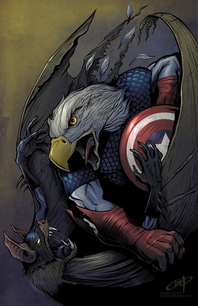 captain america vs. batman