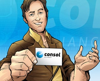 Consol Alliance comic book art created by Brian Allen, Flyland Designs