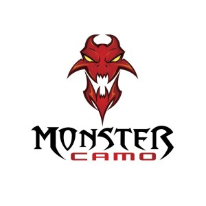 Logo design featuring a monster for a camo company