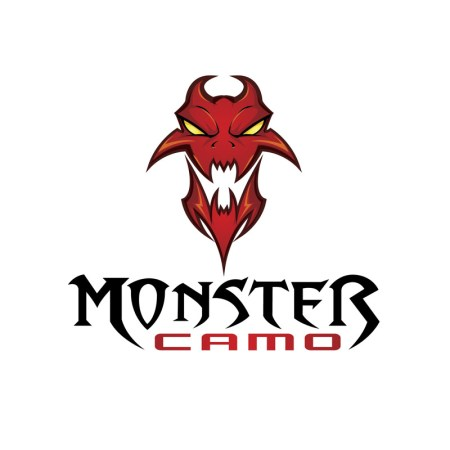 Logo design featuring a monster for a camo company