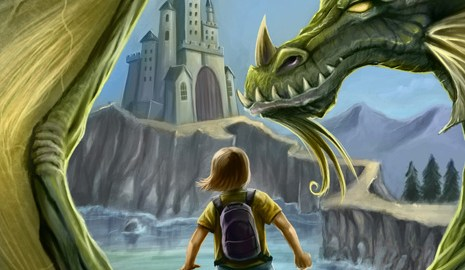 Fantasy dragon digital painting by freelance illustrator Brian Allen