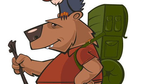 Hiker Bear character design by Brian Allen