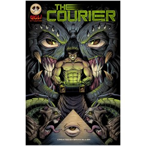 Comic cover illustration featuring aliens