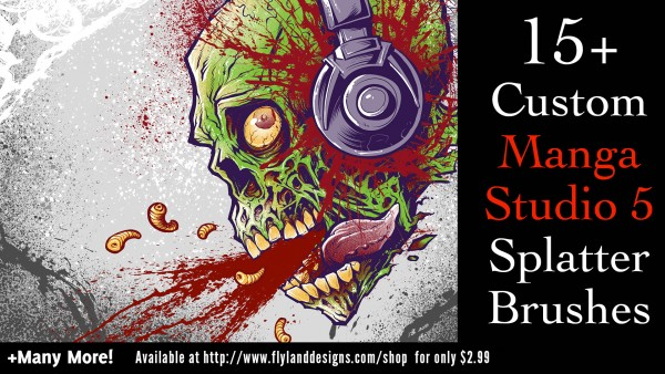 Custom blood splatter brushes for Manga Studio 5