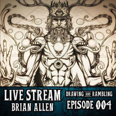 I'm inking this psychedelic artwork and answering questions LIVE right now on my YouTube and Twitch channels! http://bit.ly/2xFniEO livestream #art #ink #clipstudiopaint #psychedlicart