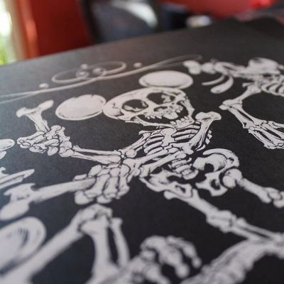 Thanks so much to everyone who picked up one of my #Disney #Skeleton #silk-screen prints - sending them out this week - I still have a few left in my shop! Illustrated by Brian Allen, #mangastudio #photoshop #illustration #art #instaart #instaartist