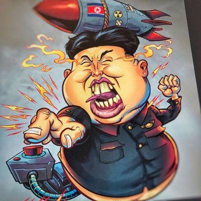 Seemed relevant #northkorea #art #kimjongun #wereallgoingtodie #mangastudio #clipstudiopaint #illustration #mascot #freelance