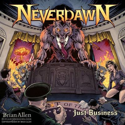 This is one of my favorite #albumcovers I've ever illustrated - I did this for the band #Neverdawn - and relax, this was done before the recent election, so no political statements here.  Unless you believe that the US government is run by werewolves, then yes.Illustrated by Brian Allen, http://flylanddesigns.com/#werewolf #heaveymetal #mangastudio #photoshop #illustration #tshirt #art #instaart #instaartist #picoftheday #igdaily #followme