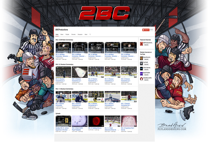 Hockey Themed Website Background Illustration