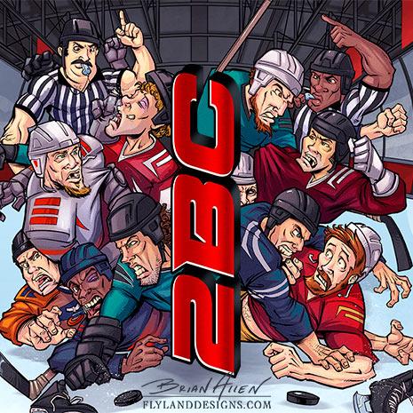 Hockey Themed Website Background Illustration