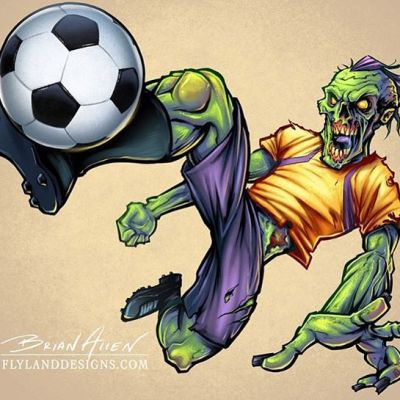 I thought this zombie illustration I did a while a back was relevant #worldcup2018 #zombie #soccerart #footballart