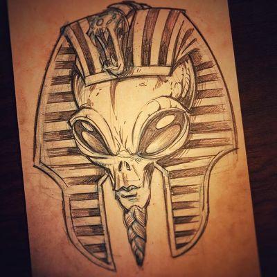 Been watching way too much Ancient Aliens.#Ancientaliens #pencilart #alienart #drawing