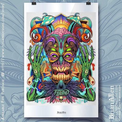 Thank you to everyone who has purcased the Psychedelic Tiki Creature!If you are still intrested in getting this 11X17 print please check out my website.#psychedelicart #tiki #tikicreature #artprinthttps://www.flylanddesigns.com/shop/