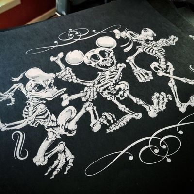 Happy Halloween! Still have 10 of my Disney skeletons screen print of the LE run left! Would love to clear these out - https://www.flylanddesigns.com/shop/#disney #skeleton #halloweenart #skullart #art #originalartwork #mangastudio #clipstudiopaint #illustration #hireanillustrator #freelanceartist #wacomcintiq
