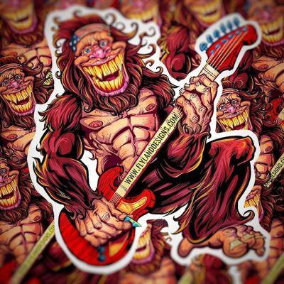 Just printed a new batch of Sasquatch stickers with @vinyldisorder - Four inches, outdoor quality vinyl. Grab them in Volume 7 from my shop.www.flylanddesigns.com/shop/....#sasquatch #rock #rockandroll #gutair #rockingit #vinylart #vinylcollector #stickerslap #stickerart #diecutstickers