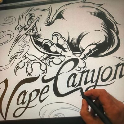 Trying to make a Kiwi bird look tough for this logo redesign for Vape Canyon in Australia. Anyone ever seen a kiwi bird irl? They defy evolution.#vapingcommunity #vapeart #vapeartist #ejuice #vapelabel #ecig#packagedesign #packagedesigner #boxart #labeldesign #graphicdesign