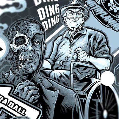 Some line-art close-ups of the Breaking Bad pinball playfield retheme I worked on for Tim Fife. Easily one of my favorite shows of all time - it was fun rewatching the show as I worked on this - so many details you miss on the first watch-through.#breakingbadart #pinballart #pinballartwork #pinball #pinballmachine #playfield #backglass