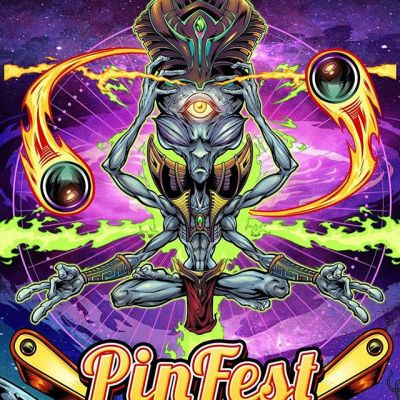Poster I designed for PinFest this weekend in Allentown PA. My first time at this show, can't wait! There's going to be something like 250 pinball machines to play! We were running short on time, so I modified some artwork I had designed previously.....#pinfest2019 #pinballart #pinballartwork #pinball #pinballmachine #playfield #backglass