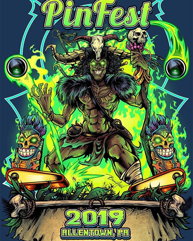 PinFest witchdoctor t-shirt I created for the pinball