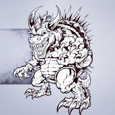 Mutant Bowser I illustrated in Clip Studio Paint for a collectible card series - here's the process sped up to one billion. Inking is still my favorite part of the process, I get lost in it sometimes.#clipstudiopaint #Ink #lineart #inkwork #mariofanart #bowser #artwork