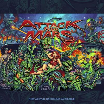 Very proud of this piece! Put a ton of hours into it. This is my Attack From Mars pinball backglass remake, officially licensed from Williams/Bally. I'm producing these as limited edition Acrylic Backglasses and flexible Translites for use in pinball machines and lightboxes.‍I filled it full of homages and easter eggs calling back to some of my favorite Alien properties. Can you find any of them?‍I will have a batch of these with me at Pinball Expo this week in Chicago.‍Thanks for all the support on this so far!‍More info here:https://www.flylanddesigns.com/product-category/pinball-and-arcade-artwork/••••‍#attackfrommars #pinballart #pinballartwork #pinball #pinballmachine #playfield #backglass #pinballexpo