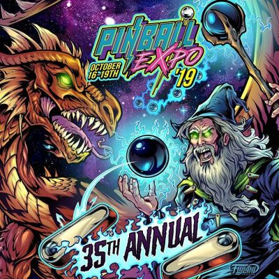 Check out this really cool Pinball show happening right now in Wheeling, Chicago Thursday-Saturday. Tons of new and classic games to play. Lots of vendors, artists and food. Come say hi! For more info: http://www.pinballexpo.net/#pinballart #pinballartwork #pinball #pinballmachine #playfield #backglass #pinballexpo