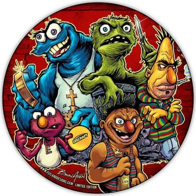 Here's the artwork for my metallic foil Discraft Disc coming out in early December - using one of my favorite cartoon parodies from a couple years back.I added a few things for Disc Golfers: Oscar is in a chain basket, and Elmo's showing off his favorite Buzzz.Let me know if you'd like one! You can preorder now - shipping in early December.#sesamestreet #sesamestreetfanart #discgolf #frisbeegolf #discraftdiscs #teamdiscraft #discraft #disc https://www.flylanddesigns.com/custom-illustrated-disc-golf-disc/