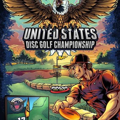 Here's the full poster I designed for United States Disc Golf Championship in October this year. There were a TON of elements and text we had to cram into this, so it was a challenge. This depicts the infamous Hole 17 - a super challenging hole on thie well-known course whose cruelty and unforgiven nature is known throughout the land of Disc Golf. It can eat up the score of even the sports' top players! I had a lot of fun working on this, and hope to work with them every year.#usdgc #usdgc2019 #discgolf #frisbeegolf #discraftdiscs #teamdiscraft #discraft #disc #innova