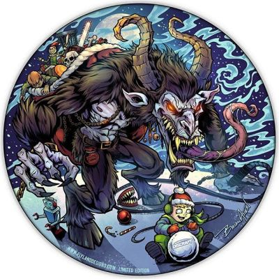 Here's the new Krampus Disc Golf Disc I'll be shipping this month. Taking PREORDERS now! Discraft is printing them now - only about 20 left. Thank you everyone for the HUGE positive reaciton to this one!I added some Disc Golf elements (check Krampus' bag!)• Limited Edtion of 50• Metallic Foil• Discraft Buzzz• Signed and numberedGrab one here:https://www.flylanddesigns.com/custom-illustrated-disc-golf-disc/#krampus #krampusart #discgolf #frisbeegolf #discraftdiscs #teamdiscraft #discraft #disc