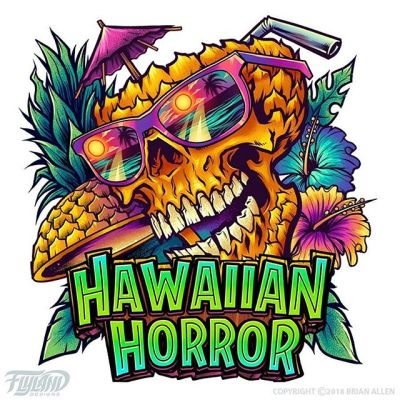 Logo design I created for a beach lifestyle brand called Hawaiian Horror.Clip Studio Paint • Wacom Cintiq 24HD#beach #skulls #skullart #beachart #logodesign #logodesigner #logoconcept #logoart #logoinspiration
