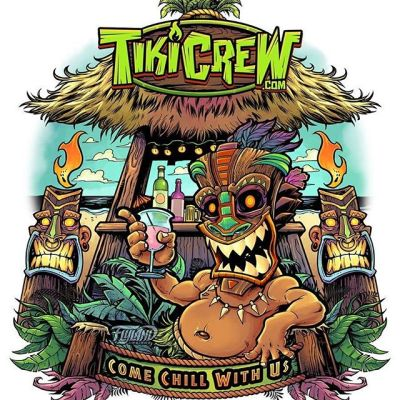Tiki Bar illustration I created a while back. Let me know if you can use this image - it's available for licensing.TikiCrew is a beach brand that I've been slowly building.#tikiart #tikibar #beachart #tikitotem #surfart #tikiartist #beach