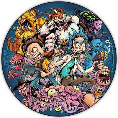 Here's a mockup of what my Rick and Morty artwork looks like on the foil Discraft Buzzz Disc-Golf Disc - thanks for the tremendous support so far. Let me know if you'd like one! Less than 15 left, thank you!!#rickandmorty #rickandmortyfan #discgolf #frisbeegolf #discraftdiscs #teamdiscraft #discraft #disc