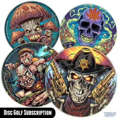 DISC SUBSCRIPTION NOW AVAILABLEI'm so humbled and amazed by the support I've received for my Disc Golf discs! Nearly every monthly disc I've released has sold out.To show my appreciation, I'm offering a subscription option for 6 of the next discs to save you some money, and to guarantee you'll get one before they sell out.If you sign up for 6 discs (each one typically delivered each month) you get free shipping on all discs! (available in the US Only)•••Check it out in my shop:https://www.flylanddesigns.com/custom-illustrated-disc-golf-disc/#discgolf #frisbeegolf #discraftdiscs #teamdiscraft #discraft #disc #discart
