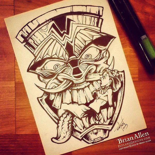 Tiki ink ink sketch