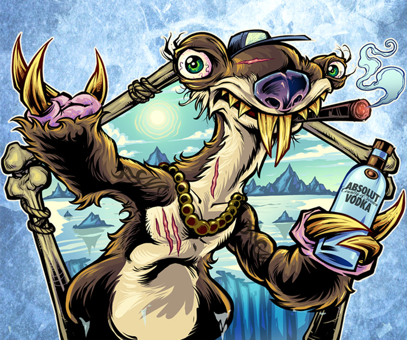 Parody of Sid from Ice Age explo