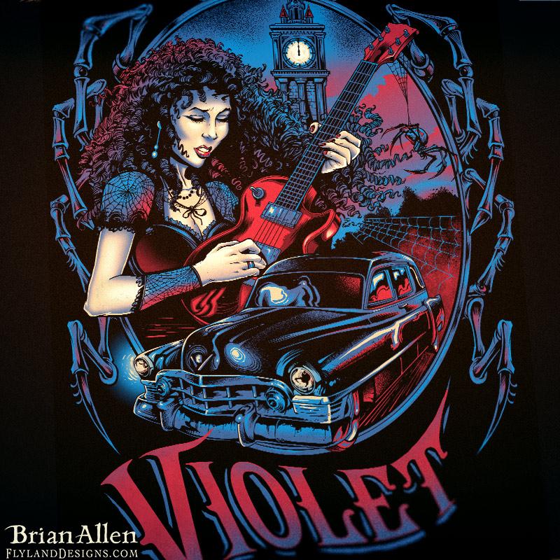 Black Widow Band T Shirt For Violet Beuachamp Flyland