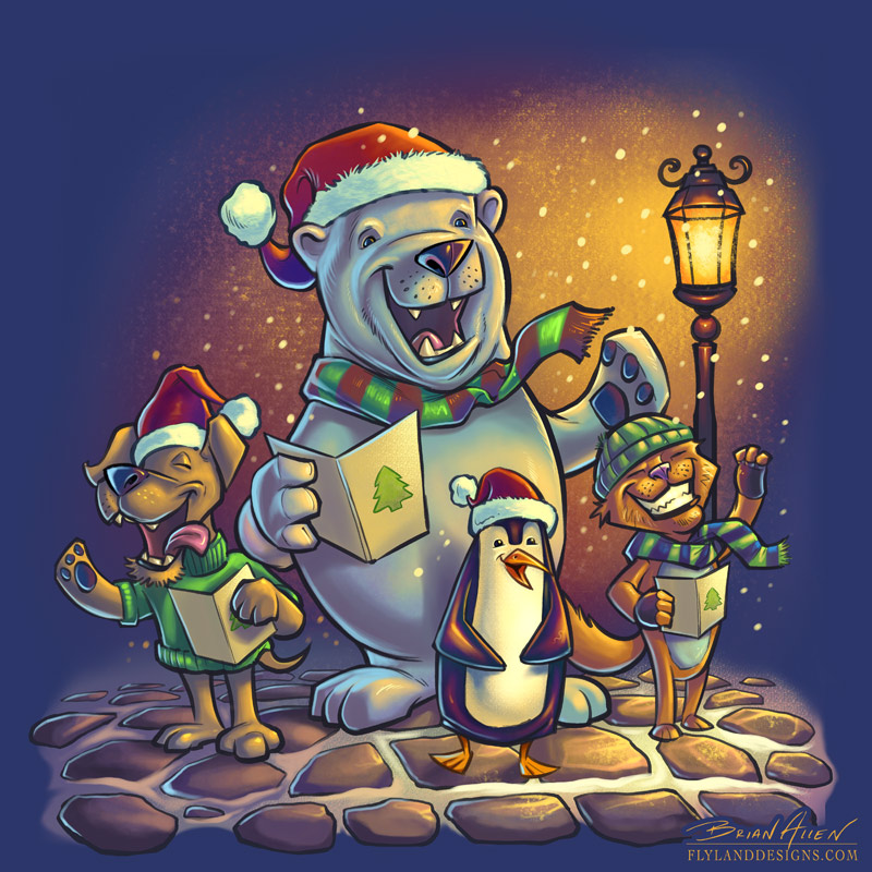 Christmas Carolers Illustration