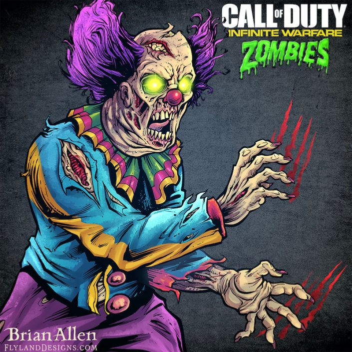 I was hired to create a series of illustrations for Activision's Call of Duty Zombies video game used during a promotional campaign they ran on social media during the game's launch.