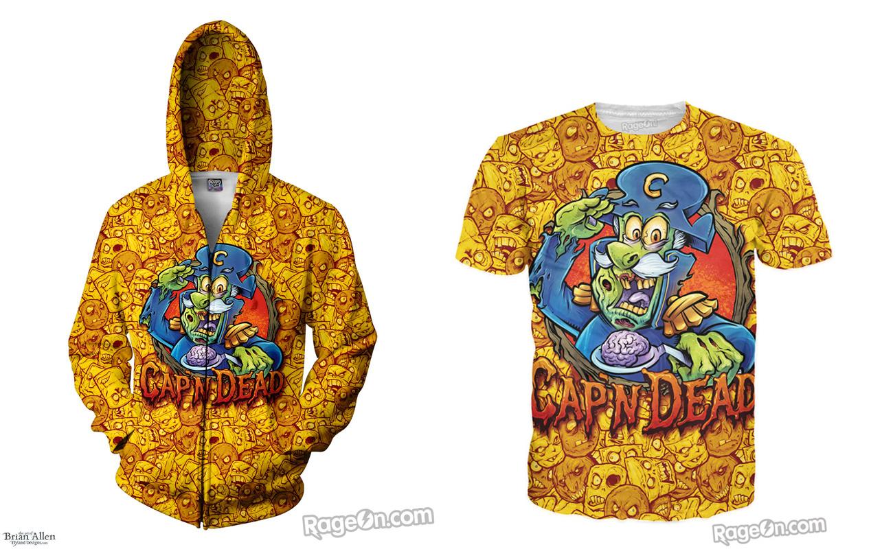 Cap'n Dead T-shirt Design