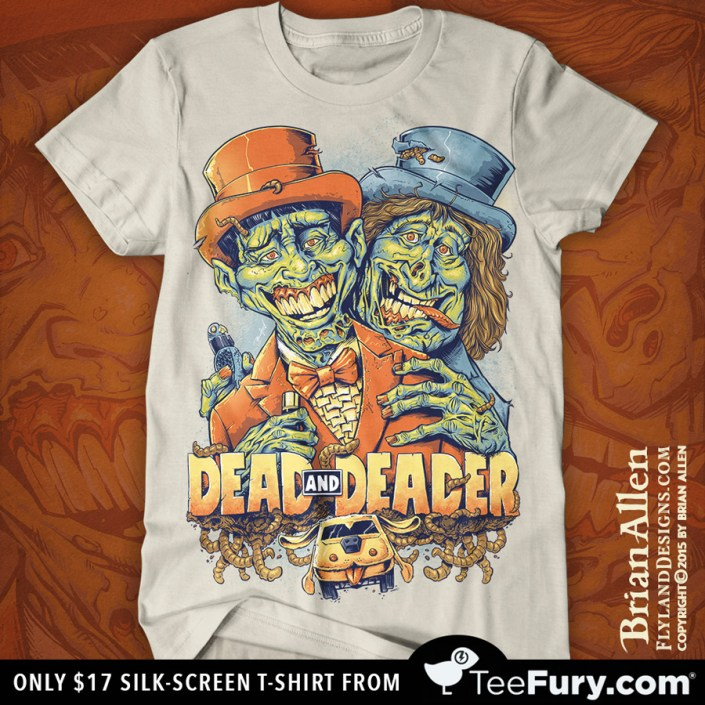 Dumb and Dumber Zombie Tribute Silk-Screen T-Shirt