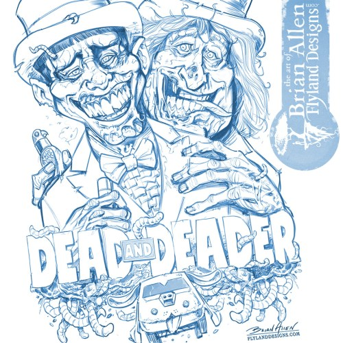 Dumb and Dumber Zombie Tribute Illustration