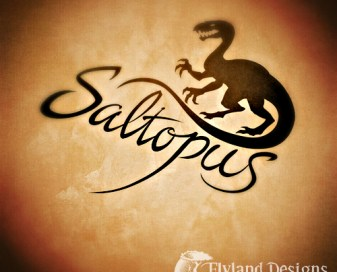 Logo design of a saltopus dinosaur for an apparel brand