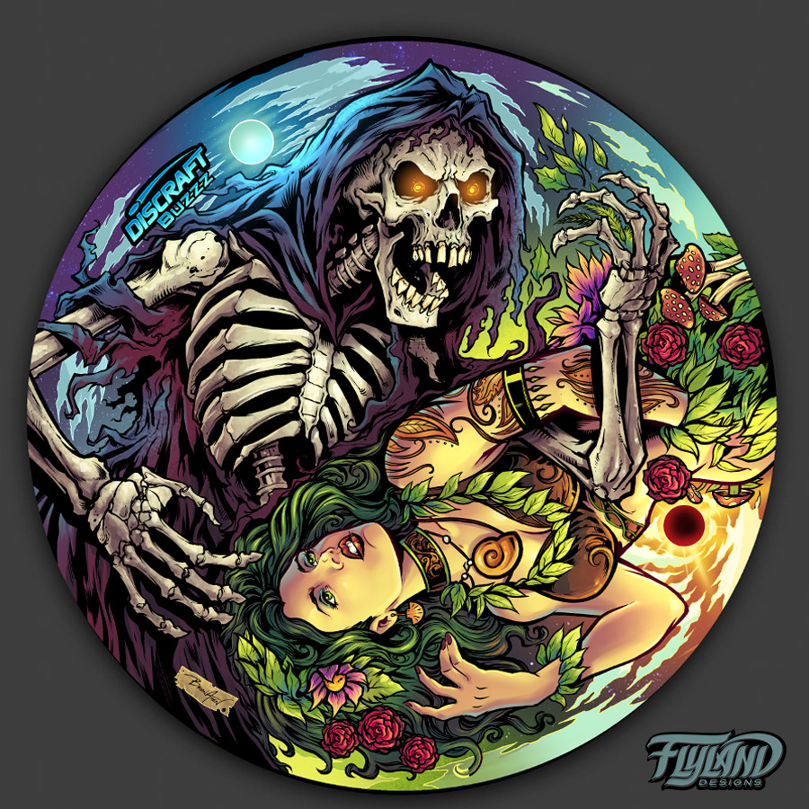 Skeleton of death at night and l