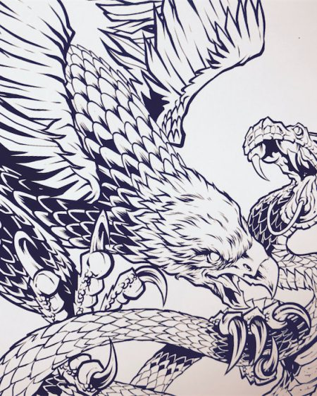 Detailed line art for tattoos