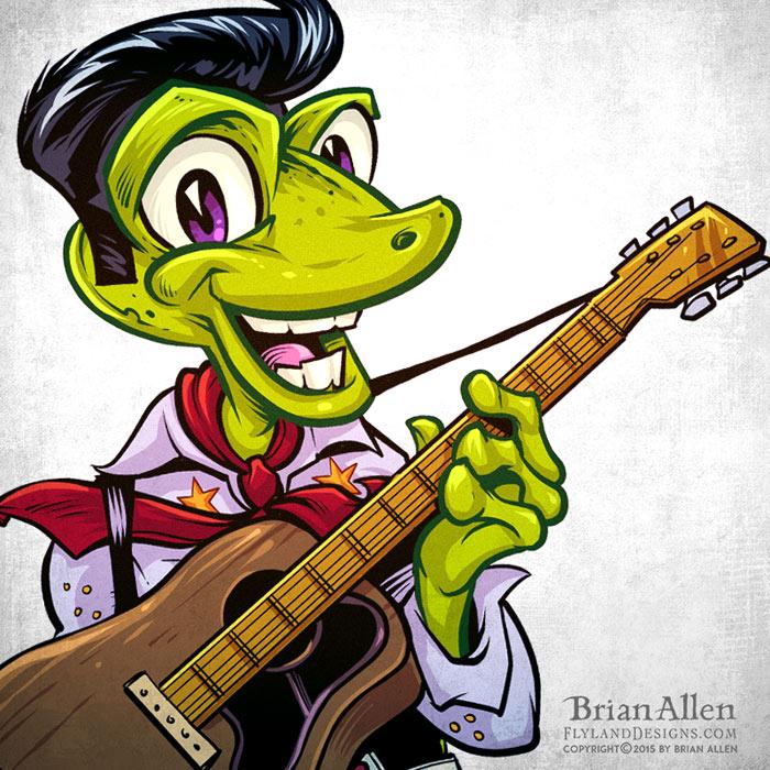 Gecko elvis cartoon character