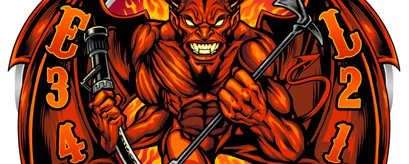 I drew this intense devil holdin