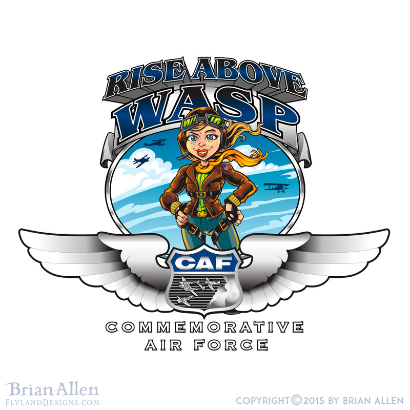 Female pilot mascot for air forc