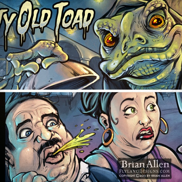 Album cover of a monk toad holdi